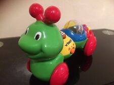 "V teck bright colour plastic,sound/music activety caterpiler toy approx 10"" long"