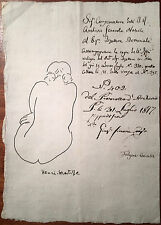 Matisse Original Pen Ink Hand Signed Drawing Nude Female Figure