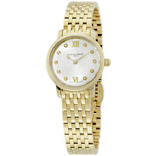 Frederique Constant Women's FC-200WHDS5B SlimLine Goldtone Stainless Steel Watch