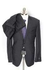 CORNELIANI Academy Gray Plaid Micro 16.25 Micron Wool 2Btn Suit 54 7L 44 44L NWT