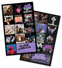 "BLACK SABBATH - twin pack discography magnet set (two 4.75"" x 3.75"" magnets)"
