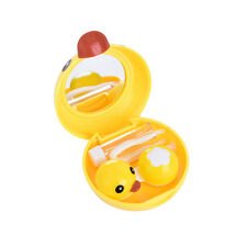 Yellow Duck Contact Lens Case Travel Mirror Tweezers Solution Storage Kit GD