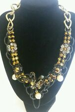 Art Wear Dimitriadis Designer Necklace*Swarovski Elements*Crystals*Pearls*Beads