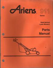 ARIENS SERIES 911 WALK BEHIND LAWN MOWERS PARTS MANUAL P/N PM-11-93