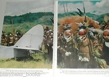 1953 magazine article NEW GUINEA, Birds & Natives, 77 color phot