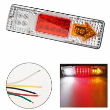 2Pcs 12V LED Rear Tail Light Caravan Camper Horsebox Kit Car Lorry Truck Trailer