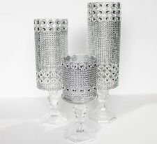 3 Set candle glass holder wedding centerpieces decor Crystal tall tower holder