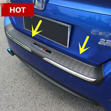 ABS Outside Rear Bumper Protector Sill Plate For Honda Civic 4dr Sedan 2016-2017