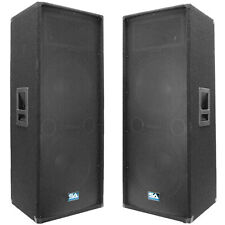 "Seismic Audio New Dual 15"" PA DJ CLUB Speaker Cabinet Pro DJ Speakers"