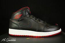 NIKE AIR JORDAN 1 MID BG GS SZ 7 Y BLACK WHITE GYM RED 554725 028