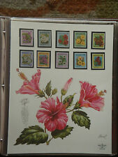 Mint Stamps of the World - Tropical Flowers of Aitutaki - Feb 17, 93