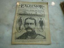 journal Excelsior 07 06 1916 Lord Kitchener victime d'un torpillage 14-18