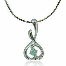 14k white Gold plated Swarovski elements crystals melody pendant necklace