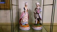 Pair of Superb French Antique Vion & Baury Porcelain Bisque Figurines 1868+