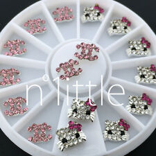 3D Nail Art Deco Hello Kitty & DIY logo Jewelry Glitter Rhinestone+Wheel N516E
