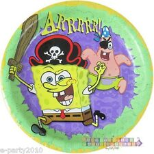SPONGEBOB SQUAREPANTS Pirate LARGE PAPER PLATES (8) ~ Birthday Party Supplies