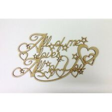 All of me loves All of you WOODEN SIGN WOOD QUOTE WALL SIGN CRAFT SIGN MDF A168