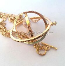 HERMIONE Granger Time Turner GOLD TONE necklace Harry Potter pendant Giratiempos