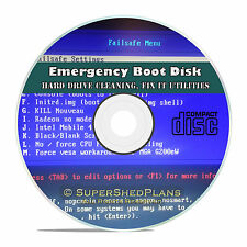 Boot, Restore, Format Disk CD, For All PC Computers, Emergency Repair Recovery