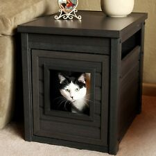 Litter Box End Table Hidden Cat Furniture Large Kitty Discrete Pet House Crate