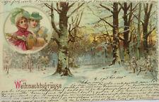"""""""Weihnachten, Frauen, Muff, Winterlandschaft""""1899, Bahnpost ♥ (10277)"""