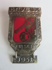 Vintage 1951 Bayeux Eindhoven Fakkel Rallye Car Rally Pin Badge with Date Bar