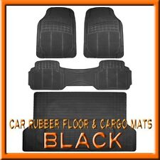 3PCS Toyota 4Runner Black Rubber Floor Mats & 1PCS Cargo Trunk Liner mat