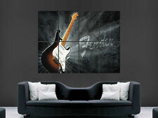 FENDER STRATOCASTER ELECTRIC MUSIC GUITAR  ART WALL  LARGE IMAGE GIANT POSTER