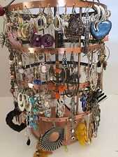 50 pairs wholesale dangle hoop studs earring mixed lot fashion bulk resale-1