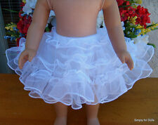 "WHITE Tulle CRINOLINE Half Slip DOLL CLOTHES fits 18"" AMERICAN GIRL Doll Clothes"