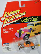 Hot Rods - 1927 FORD T-ROADSTER - yellow/custom flames - 1:64 Johnny Lightning