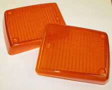 VW Late Bay window bus 72-79 Indicator lens Amber Pair camper OEM NOS Hella 2pcs