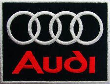 AUDI Embroidered Iron On Patch Embroidery Emblem Logo German automobile GERMANY