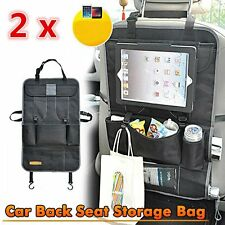 2 x Waterproof Car Seat Back Organizer Holder Travel Storage Bag iPad Pocket