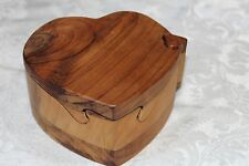 Handcrafted Wooden Heart Puzzle Box