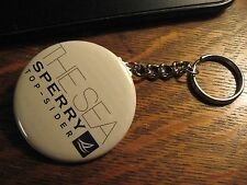 Sperry Keychain - RePurposed Top Sider Magazine Ad Backpack Purse Clip Ornament