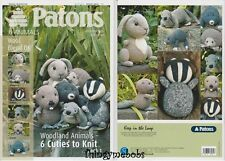 PATONS 3824 ORIGINAL WOODLAND ANIMALS KNITS/KNITTING PATTERN BOOK 1 - DK - NEW