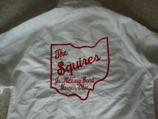 Vintage The Squires Jr Military Band Warren Ohio Made In USA White Jacket M