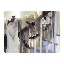 Halloween Vampires Black Bats & Gauze fabric Draping Kit Decoration Prop FREE PP