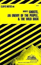 Ghosts, Enemy of the People & Wid Duck,by Ibsen, Cliffs Notes, Ships FREE!