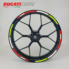 Ducati Corse reflective wheel decals rim stickers stripe 899 949 1199 1200 1299