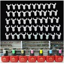 50PCS Ring Natural Color False Nail Art Tools Polish Display Practice Tips Hot