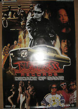 RUTHLESS RECORDS Decade of Game (10th Anniv) promo poster, EX, NWA, Eazy-E, HWA