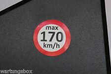 ADESIVI velocità 170 km/h avvertenza M + S Adesivo Segnale impianto