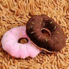 Lovely Donut Pet Dog Puppy Cat Squeaker Quack Sound Toy Chew Play Toys Gift