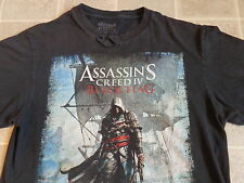ASSASSIN'S CREED 4 black flag T-SHIRT SM online video game distressed iv promo