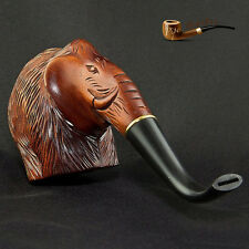 "HAND CARVED  EXCLUSIVE WOODEN REAL TOBACCO  SMOKING PIPE PEAR  "" Mammoth """