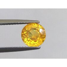 Natural Yellow Sapphire Orange-yellow color Round shape 2.12 carats