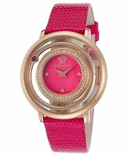 Versace Women's VFH150014 Venus Rose Gold Ion Plated Pink Topaz DIAMOND Watch