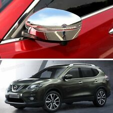 New 2 x Chrome Side Mirror Caps Covers Trim for Nissan Rouge X-Trail 2014 2015